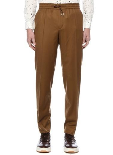 Sandro Sandro Carrot Fit  Yün Flanel Pantolon 101538239 Camel